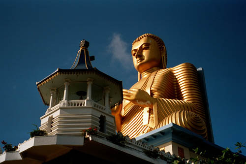 Golden Buddha at Dambulla